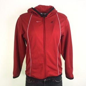 """Nike Womens Red Zipper Jacket 4-6 EX DR10271"